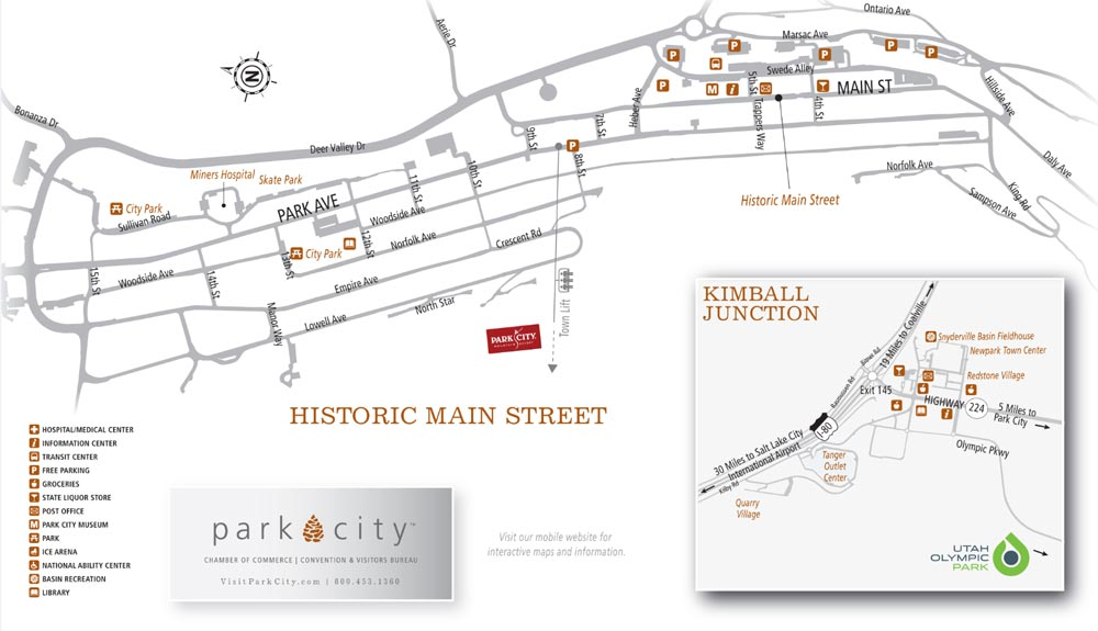 Printable Park City, Utah Maps   Old Town & Park City Area