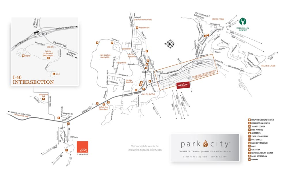 Printable Park City Utah Maps Old Town Park City Area
