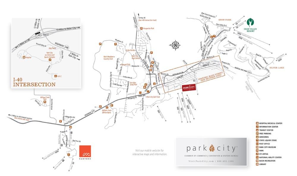 Map Of Park City Utah Printable Park City, Utah Maps   Old Town & Park City Area