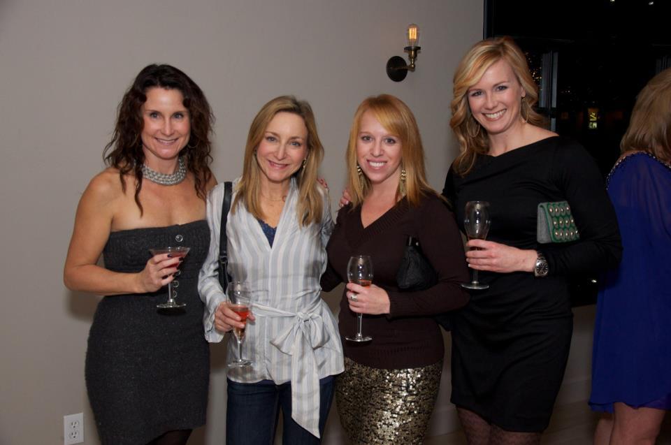 Lori Harris, owner of Mary Janes on Main Street; Nancy Tallman, Hilary Reiter, Director of Marketing and PR at Sky; Linda Lovelace
