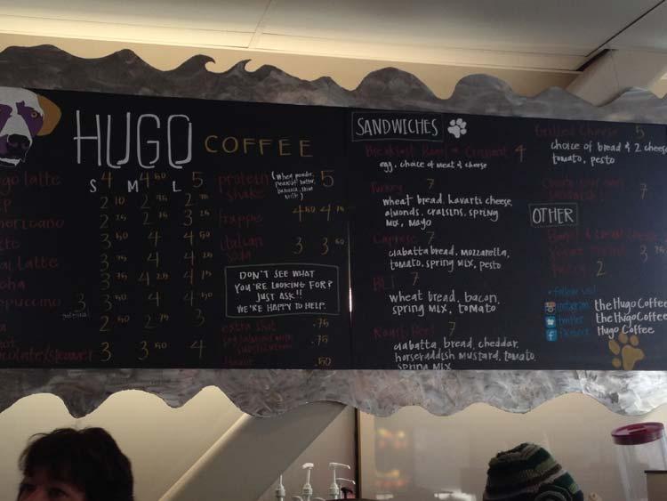 Hugo Coffee Menu