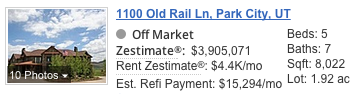 1100 Old Rail Lane Zestimate