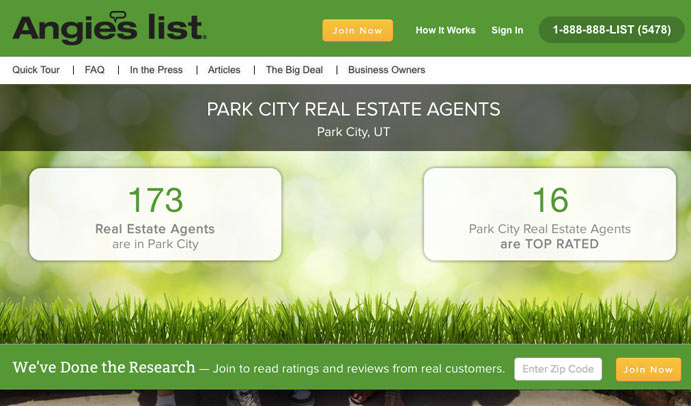 angies list real estate reviews