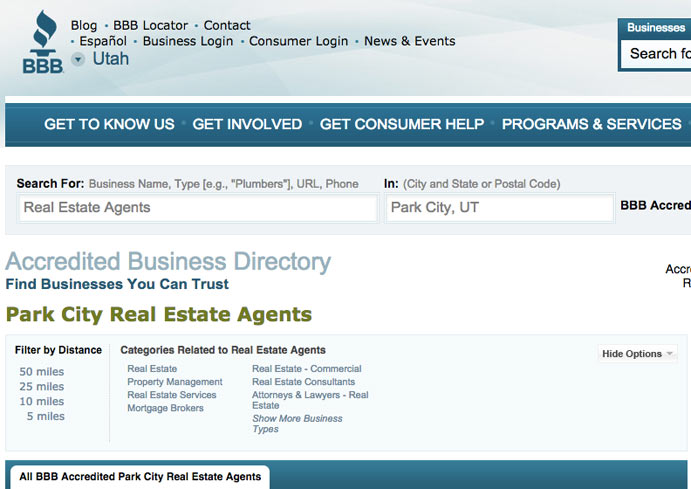 bbb real estate reviews