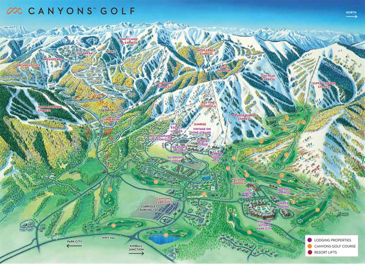 Canyons Golf Course Map