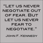 JFK Negotiation Quote
